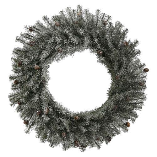 Frosted 30-Inch Pistol Pine Wreath