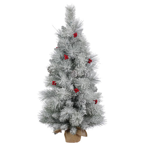 Vickerman 36 In. Frosted Mix Berry Pine