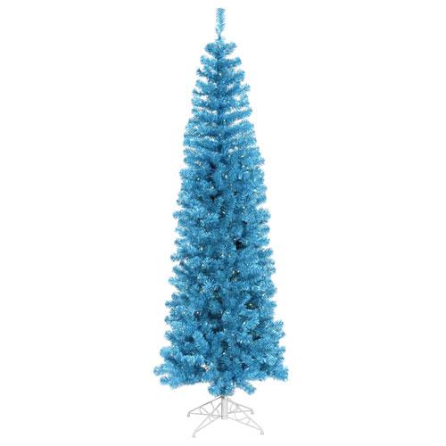 Vickerman 6 Ft. 6 In. Sky Blue Pencil Tree