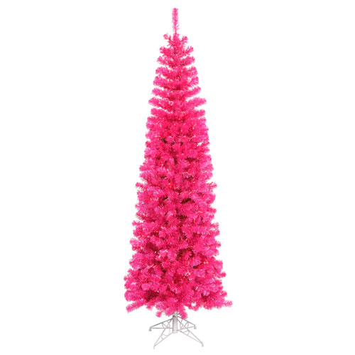 6 Ft. 6 In. Pink Pencil Tree