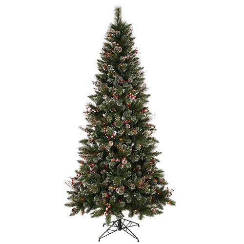 Vickerman 4 Ft. 6 In. SnowT ip Berry Tree