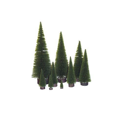 Vickerman Moss Green Pine Village Tabletop Tree 20-inch