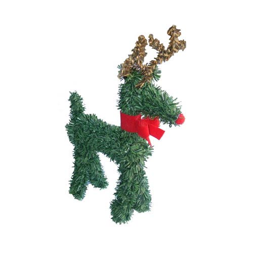 Vickerman Reindeer with Red Bow 4-inch