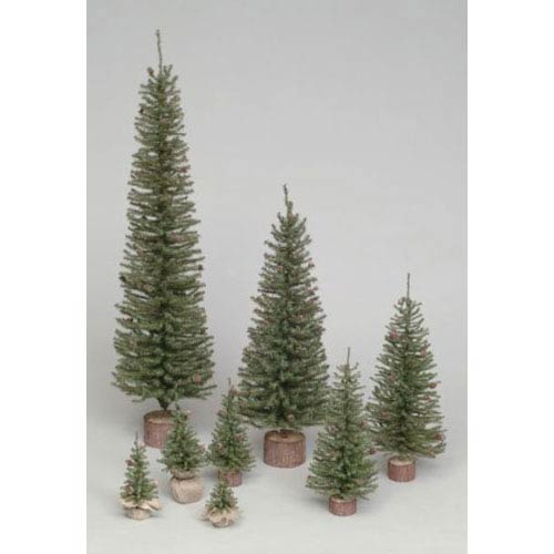 Vickerman Green Carmel Pine Tabletop Tree 12-inch