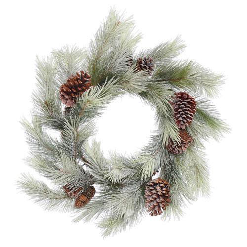 Vickerman 24 In. Frosted Bellevue Pine Wreath