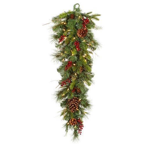 Green Cibola Mix Berry Teardrop 36-inch and 50 LEDs
