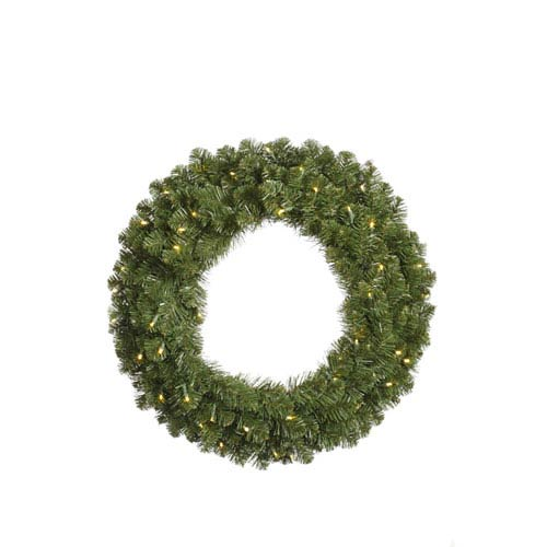 Grand Teton Wreaths 48-Inch Wreath w/200 Clear Dura-Lit Lights and 421 Tips