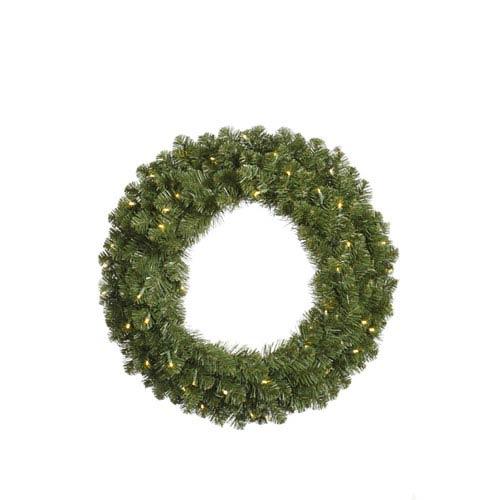Grand Teton Wreaths 48-Inch Wreath w/200 Warm White Wide Angle LED Lights and 420 Tips