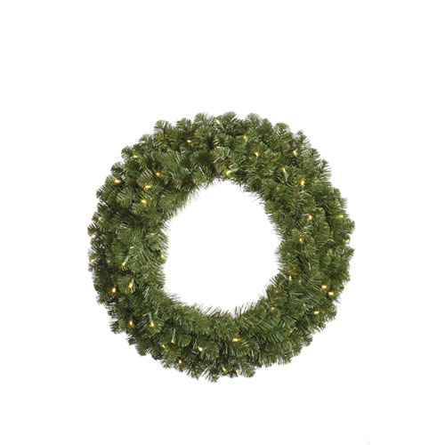 Grand Teton Wreaths 72-Inch Wreath w/400 Warm White Wide Angle LED Lights and 1020 Tips