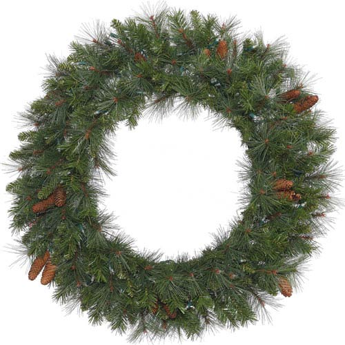 Green 48-inch Savannah Mixed Pine Wreath