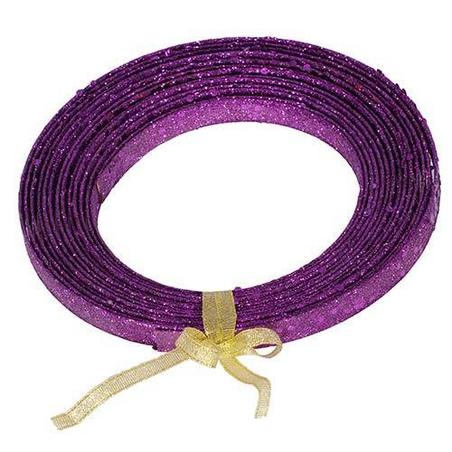 Vickerman Purple 23-Foot Glitter Ribbon