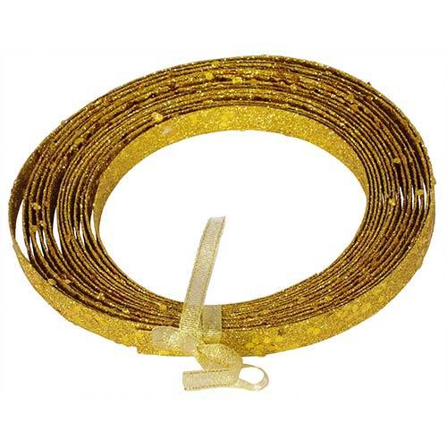Antique Gold 23 Foot Glitter Ribbon