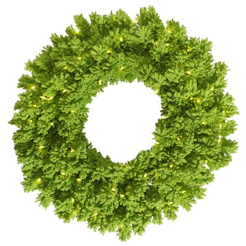 Vickerman Flocked Lime Pine Wreath 24-inch x 24-inch