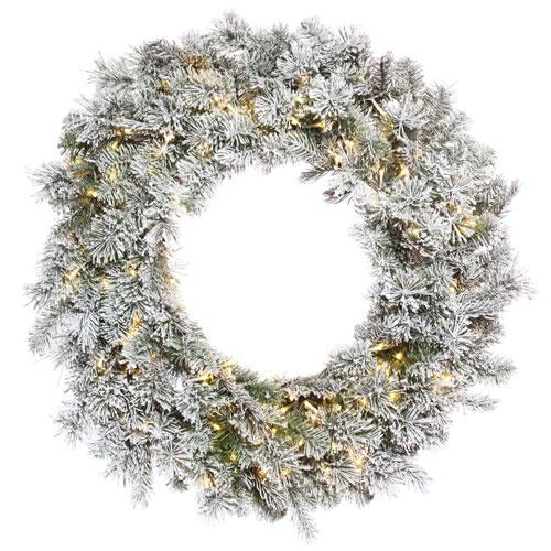 Vickerman 24 In. Flocked Kiana Wreath