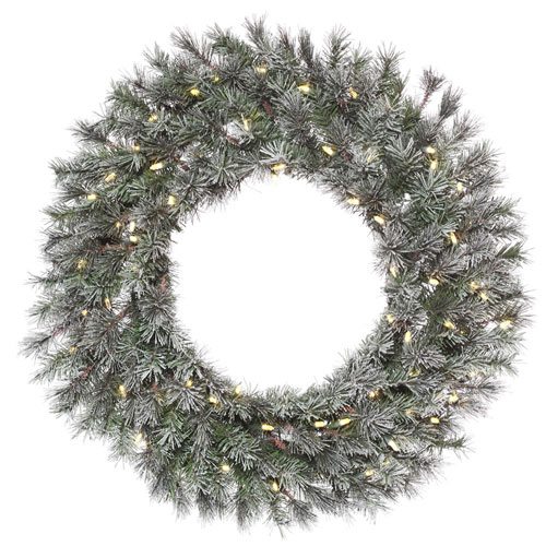 24 In. Frosted Lacey Wreath