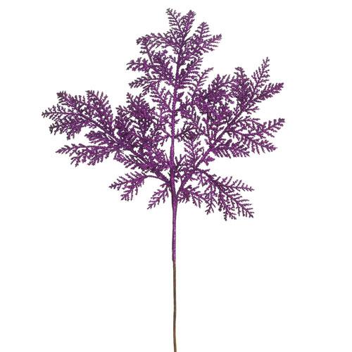Purple Glitter Cypress Spray, Set of Twelve