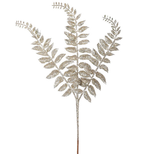 Champagne Glitter LocustFern Spray, Set of Twelve