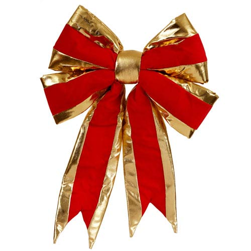 Red and Gold Bow 16-inch x 19-inch