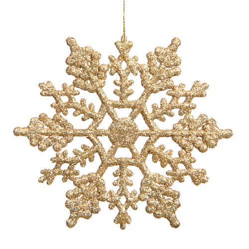 Vickerman Gold Snowflake Ornament 4-inch