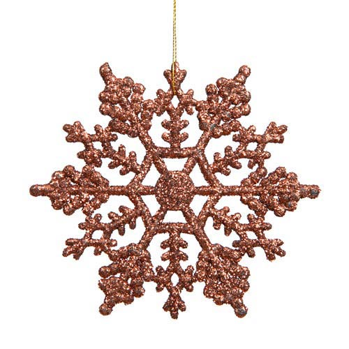 Mocha Solid Color Snowflake Ornament 4-inch
