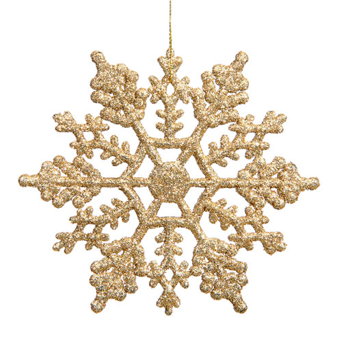 Vickerman Gold Snowflake Ornament 6.25-inch