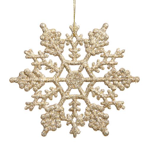 Vickerman Champagne Snowflake Ornament 6.25-inch