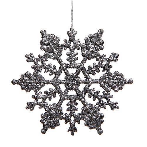 Vickerman Pewter Snowflake Ornament 6.25-inch