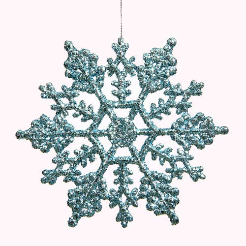 Vickerman Baby Blue Snowflake Ornament 6.25-inch