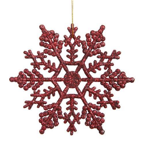 Vickerman Burgundy Snowflake Ornament 8-inch