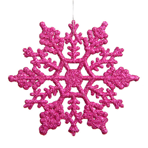 Vickerman Magenta Snowflake Ornament 8-inch