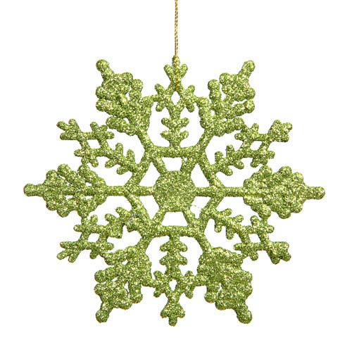 Vickerman Lime Snowflake Ornament 8-inch