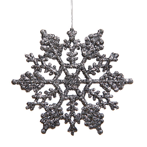 Pewter Snowflake Ornament 8-inch