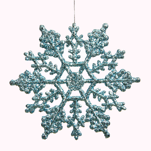 Baby Blue Snowflake Ornament 8-inch