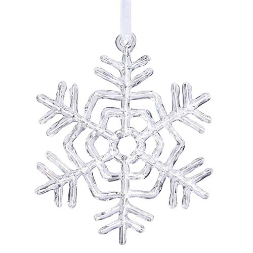 Clear 5-Inch Acrylic Snowflake Ornament