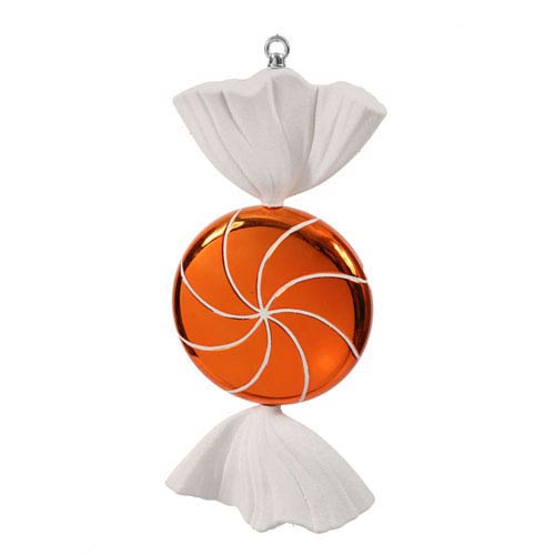 Vickerman Orange Swirl Candy Ornament 18.5-inch