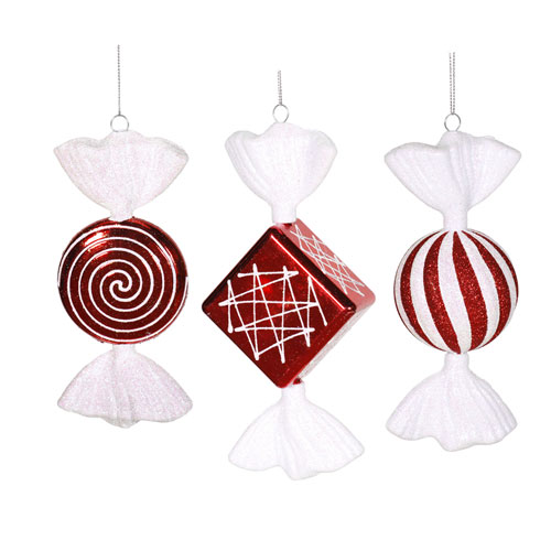 Peppermint Assorted Candy Ornament, Set of Three