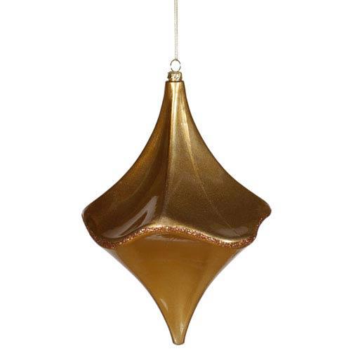 Vickerman Antique Gold Cut Drop Ornament 8-inch