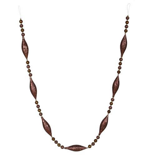 Chocolate Matte/Glitter Garland Ornament 72-inch