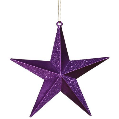 Purple Star Ornament 6-inch