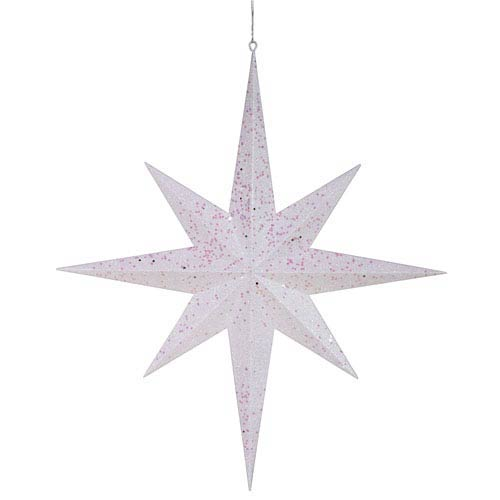 White 8 Point Star Ornament 24-inch