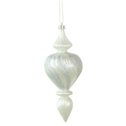 Vickerman Silver 7-inch Candy Finish 3/Box Finial Ornament 180mm