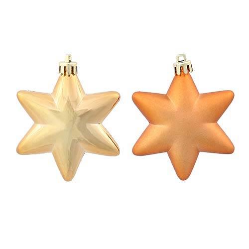 Copper 2-Inch Assorted Star Ornament, 36 per Box