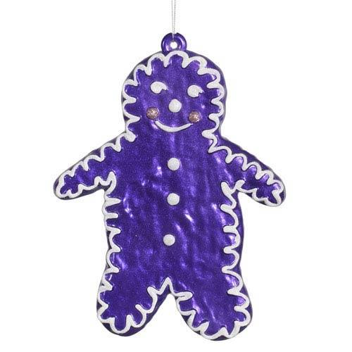 Purple 7.5-Inch Candy Snowman Ornament