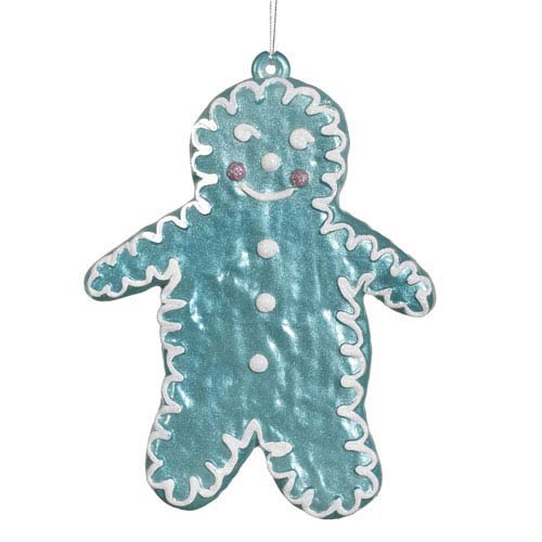 Teal 7.5-Inch Candy Snowman Ornament