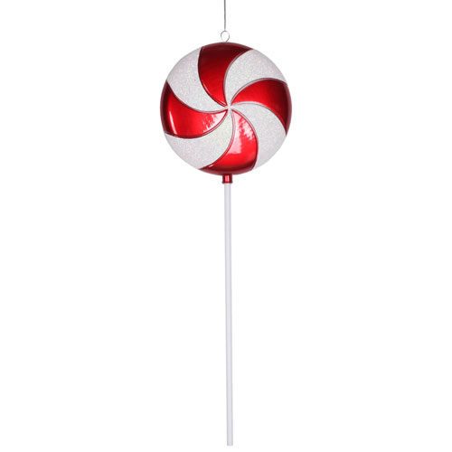 Red-White Candy Lollipop Ornament