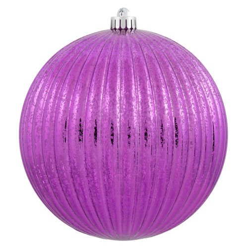 Cerise Mercury Pumpkin Ball Ornament, Set of Four