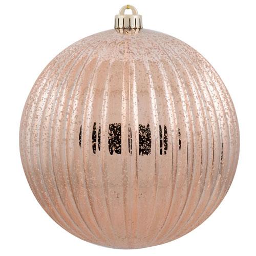 Vickerman Rose Gold Mercury Pumpkin Ball Ornament, Set of Four