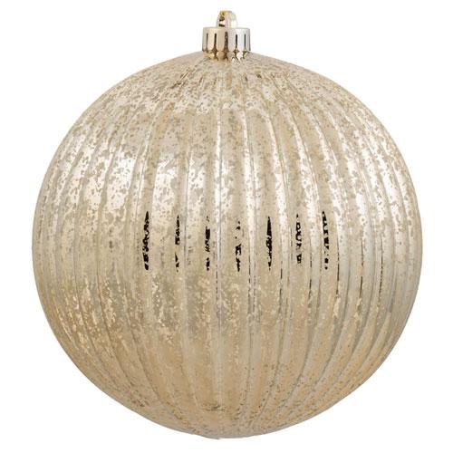 Vickerman Gold Mercury Pumpkin Ball Ornament