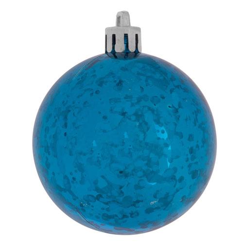 Vickerman Turquoise Shiny Mercury Ball Ornament, Set of Six