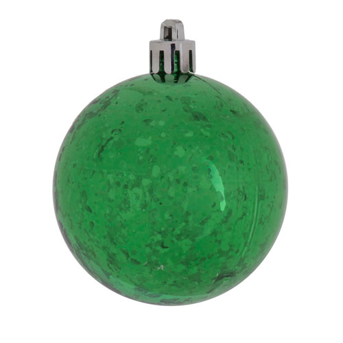 Vickerman Green Shiny Mercury Ball Ornament